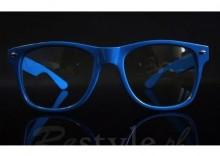 Okulary wayfarer nerd zerówki NIEBIESKIE