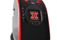 X-Factor urządzenie karaoke - monitor - wyjście wideo - mik