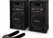 """Zestaw karaoke """"STAR-8"""" głośniki PA, mikrofon radiowy, 800W"""