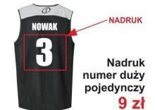 Nadruki na strojach koszykarskich - Numer duży pojedynczy
