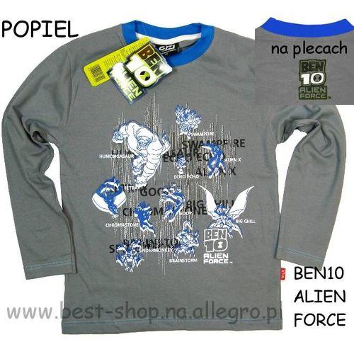 Bluza BEN10 ALIEN FORCE - koszulka długi rękaw Ben 10 szara 110