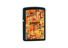 Zapalniczka Zippo Urban Art Words, Black Matte(B) Z218021