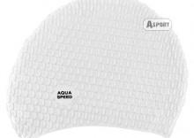 Czepek z silikonu na długie włosy BUBBLE II biały Aqua-Speed