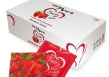Truskawkowe prezerwatywy MoreAmore Condom Tasty Skin Strawberry 100 sztuk