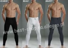 Kalesony ciepłe - CORNETTE 100% bawełny Białe/Czarne/Grafit - M, L, XL, XXL, 3XL, 4XL, 5XL
