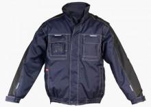 LH-COVER granatowo-czarna kurtka zimowa z odpinanymi rękawami