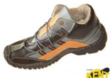 KENT 062 CZAR-SZAR-POM - Ciekawe skórzane buty zimowe