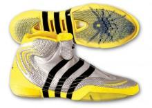 """Buty zapaśnicze ADIDAS """"AdiStrike"""" [rozmiar/kolor : 43 1/3 /srebrno-żółty]"""