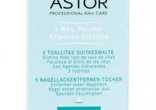 Astor 5 Nail Polish Remover Tissues Zmywacz do Paznokci w Chusteczkach