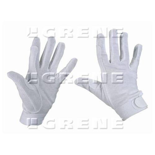 Rękawiczki jeździeckie bawełniane białe, roz. L