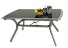 Stół z blatem z hartowanego szkła +aluminium
