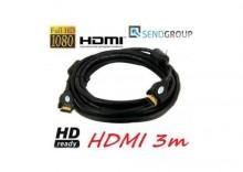 KABEL HDMI-HDMI 3m GOLD v1.3b HD 2560x1600p