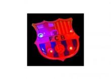 znaczek FC Barcelona neon