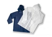 Płaszcz przeciwdeszczowy z materiału PEVA, z kapturem i kieszeniami, w etui MAJESTIC