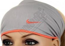 Opaska do włosów - Nike Reversible/Expandable Jersey Hairband, kolor: szary/pomarańczowy