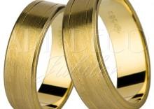 Nowości 2011r. Złote obrączki ślubne kolekcja Amare LOVE by Swepol wzór model 682 w próbie333