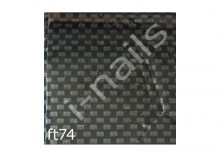 Folia ft74 czarno-srebrna kosteczka