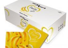 Bananowe prezerwatywy MoreAmore Condom Tasty Skin Banan 50 sztuk