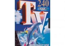 Zestaw trzech kaset video TDKE-240 TV
