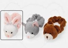 Pluszowa gumka do włosów króliczek