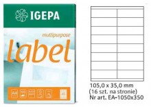 Igepa Label Multipurpose 105x35