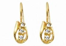 Złote kolczyki z cyrkoniami Swarovskiego - K136
