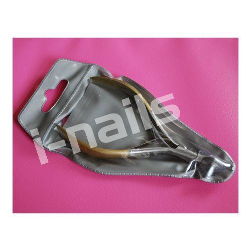 Cążki do wycinania skórek GOLD I-nails 5mm podwójna sprężyna