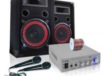"""Zestaw PA """"EASY V.2"""": wzmacniacz, kolumny, mikrofony - 500 W"""
