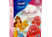 GELLWE 375g Babeczki z perełkami księżniczek seria Disney księżniczka