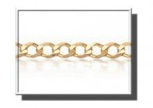 ZAA0017 | Złoty łańcuszek Pancerka pełna 50cm żółte złoto 585 szer.2 mm