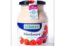 Sobbeke: jogurt malinowy 7,5% BIO - 500 g