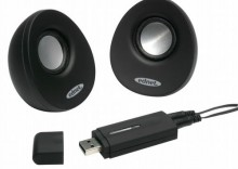 Głośniki do notebooka USB EGG czarne