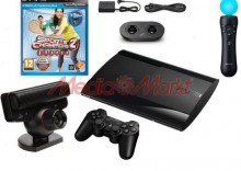 Konsola SONY Playstation 3 Super Slim 12 GB + Move Starter Pack + Sports Champions 2 + dodatkowy kontroler Move