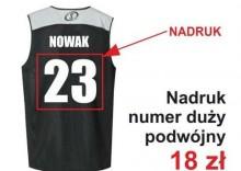 Nadruki na strojach koszykarskich - Numer duży podwójny