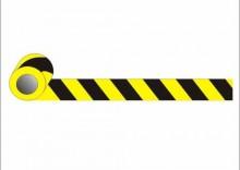 Taśma żółto-czarna 10cm x 33m przylepna jednostr