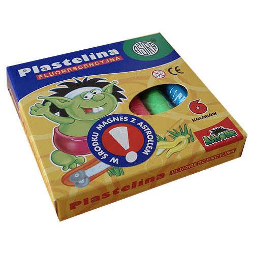 Plastelina Astra - 6 kol. fluo