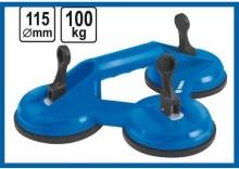 Uchwyt przyssawka do szyb 3 x 115 mm udźwg 100 kg