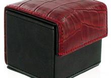 Kondomierka pudełko na prezerwatywy - Devine Condom Cube czerń i krokodyl czerwony