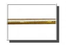 ZAA6058   Łańcuszek żmijka kwadratowa 40cm z żółtego złota 585
