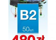 Plakaty listwowane B2 - 50 sztuk
