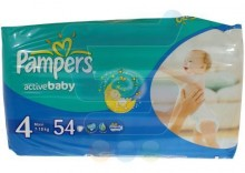 PAMPERS Pieluchy Active Baby 4 MAXI 7-18 kg 54 szt