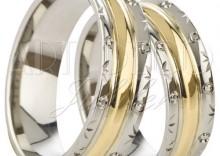 Złote Obrączki Ślubne Łazur Nowości kolekcja harmonijna II wzór H11