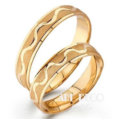 Złote Obrączki Ślubne Verona by Yes wzór 505