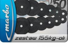 Zestaw obciążeń olimpijskich 155kg ZESTAW155KG-oli