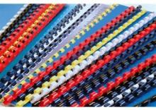 Grzbiet plastikowy 8mm niebieski 100szt/op