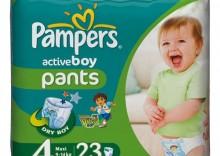 PAMPERS Active Boy Maxi 4pieluchomajtki 23szt