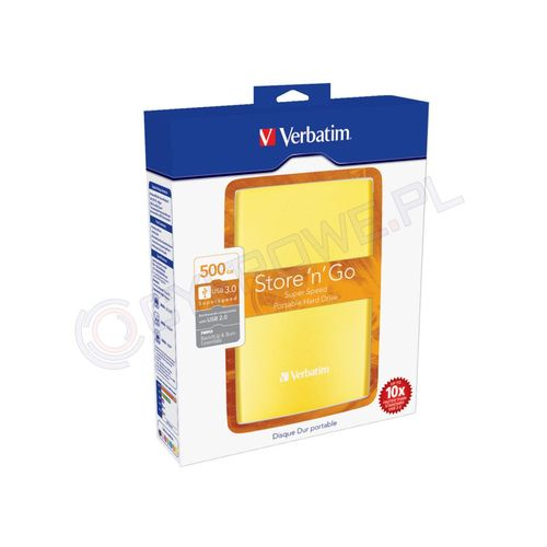 Verbatim Store n Go USB 3.0 500GB żółty