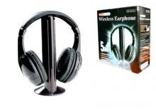 Słuchawki bezprzewodowe 5w1 mikrofon radio