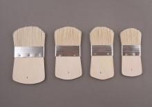 Pędzle szczecinowe krótkie zaokrąglone komplet 4 sztuki