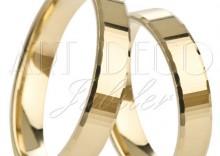 Złote Obrączki Ślubne Łazur Nowości kolekcja klasyczna I wzór K02 EXTRA Light